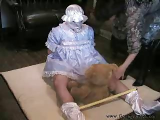 One hour of adult baby play including sex toys