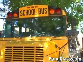 School bus driver fucking teen girl