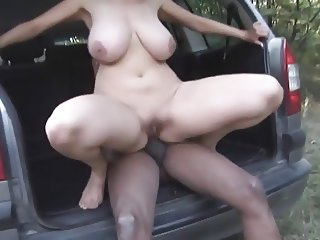 In the German Woods 1 The MILF Outdoors