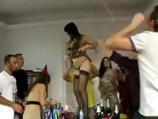 Romanian Sex Party with these hot babes getting hot bodies played