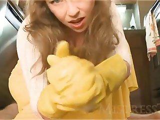 hottest Mistress Latex Gloves 2