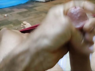 outdoor wank while neighbor watches