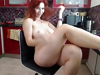 big titty natural redhead with tone body