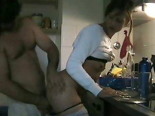 Morning kitchen fuck