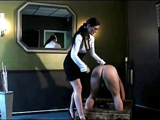 Mistress Spanks His Ass