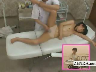 Subtitle Japanese schoolgirl topless ENF vagina massage