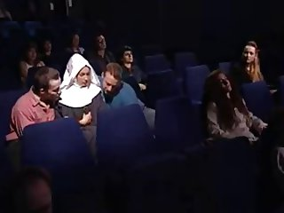 Laura Madalina at the Movie Theater in a Orgy