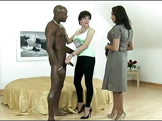 Sexy Brunette Likes Big Black Cock