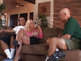 RNY OLD HUSBAND WATCHES HIS HOT BLONDE WIFE FUCK A BLACK GUY