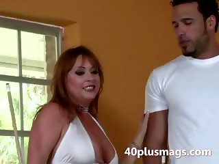 horny mature divorcee seduces stud