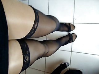 Shiny Pantyhose Crossdresser 6