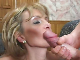 Mature Mom fucks son s friend