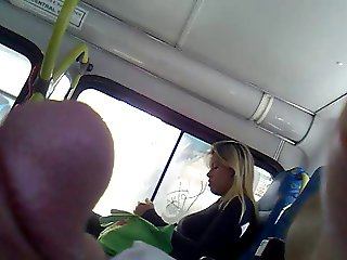 bus flash dick she look