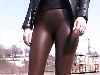 showing us her latex ass cameltoe