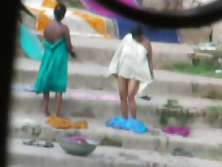 Indian Aunty bath in River 3