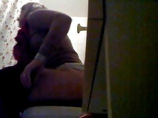Blonde Big Ass Toilet Voyeur