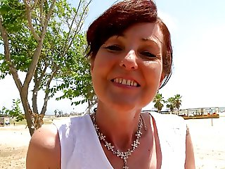 french mature has anal on beach