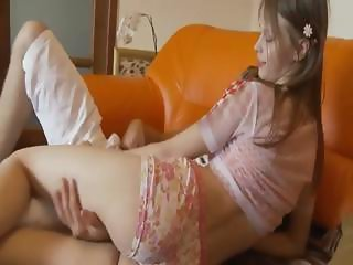 Petite princess sucking huge cock
