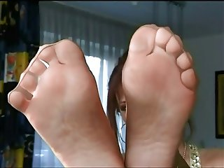 Mature and her Stocking Feet