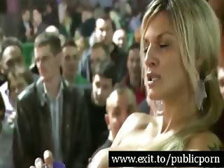 Public dildo Orgasms for 500 spectators