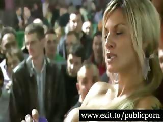 Public dildo Orgasms for 500 spectators