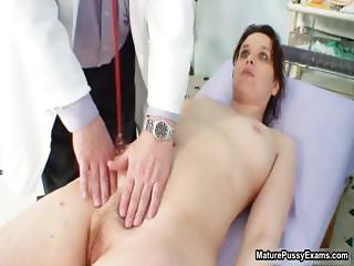 Horny doctor abusing his mature female part3