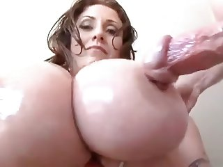 Hot Bigtitted Cougar Blowjob and Titfuck