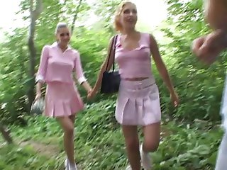 Pretty in pink Andy and Polina