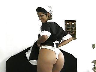 Dusky Maid Pleases Her Master