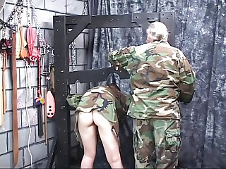 D HEAD ARMY SLUT WITH A SWEET ASS GETS NAKED AND QUESTIONED