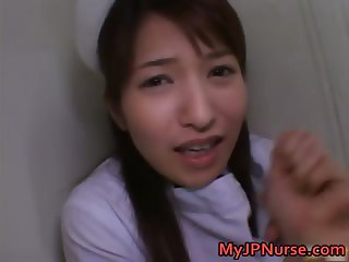 Ann Nanba Asian nurse gets a hot facial part6