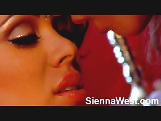 Busty Sienna West and Bridgette B lesbian sex