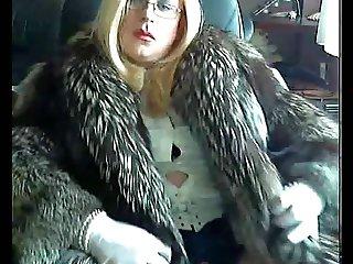Mistress in furcoat