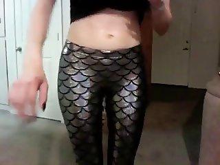 Girl showing us her black milk leggings 2