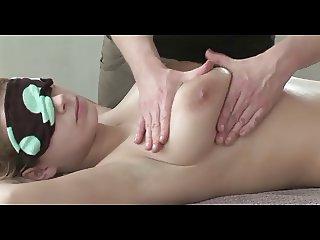 big titted Katharina getting a massage