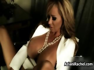 Busty blonde milf gets horny dildo part1