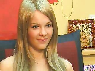 Hot Blonde fingering on cam