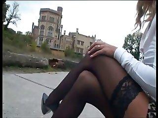 LGH Tamia Mega Heels und Halterlose Nylons