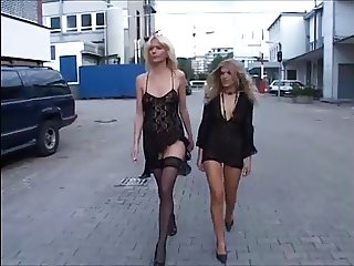 Two horny German Milfs gangbanged part 1