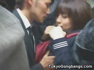 Schoolgirl in Trouble in a Bus