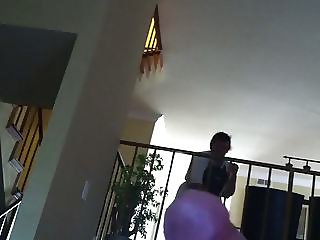 Video 1 Flashing cleaning lady and she helps out