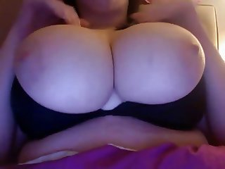 Big eyed chubby beauty shows off her amazing tits