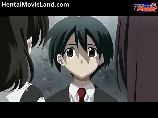 Innocent anime schoolgirl blows stiff part1
