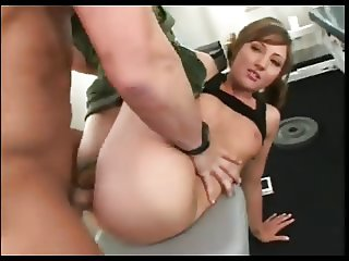 Cute Girl In Thong Gets Fucked In The Gym