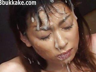 Messy Japanese Bukkake 713 14