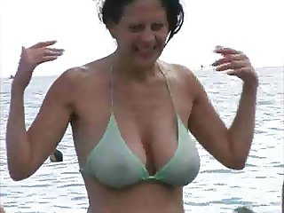 Milf in Bikini at The Beach