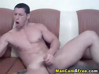 Serbian Big Cock Jerking Off