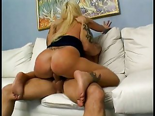 Teen blonde gets her tight pussy stretched by a big cock