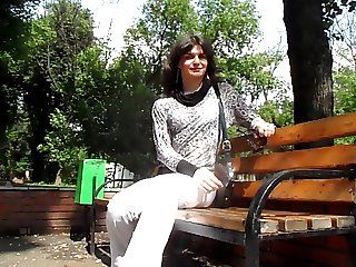 Russian crossdresser outdoor