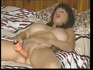 British slut Vanessa plays with herself in various scenes